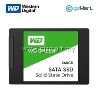 "WESTERN DIGITAL 240GB 2.5"" Sata III Solid State Drive-Green"