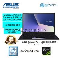 "ASUS Zenbook Pro15 UX580G-DEN044T 15.6"" Laptop-Blue (i7-8750H, 8GB, 512GB, Gtx1050, Win10)"