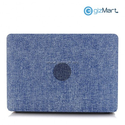 "MacBook Pro Retina 13"" A1502/A1425 Jeans Rubberized Hard Case - Denim Blue"