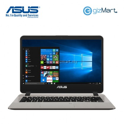 "ASUS Vivobook A407M-ABV036T 14"" Laptop-Gold (N4000, 4GB, 500GB, Win10)"
