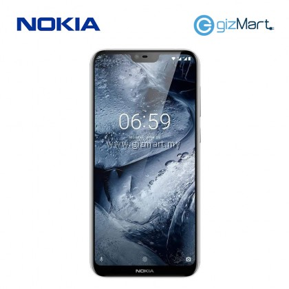 "NOKIA 6.1 Plus Smartphone-White (SDM636, 4GB, 64GB, 16MP, 5.8"")"