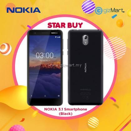 "NOKIA 3.1 Smartphone-Black (MT6750, 3GB, 16GB, 13MP, 5.2"")"