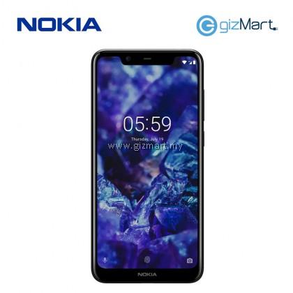 """NOKIA 5.1 Plus Smartphone-Black (MT6771, 3GB, 32GB, 13MP, 5.8"""")"""