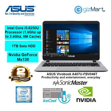 """ASUS Vivobook A407U-FBV046T 14"""" Laptop-Gold (i5-8250U, 4GB, 1TB, Mx130, Win10)"""