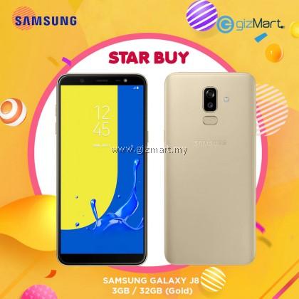 "SAMSUNG Galaxy J8 Smartphone-Gold (OctaCore-1.8Ghz, 3GB, 32GB, 16MP, 6"", LTE)"