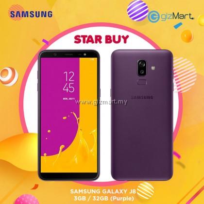 "SAMSUNG Galaxy J8 Smartphone-Purple (OctaCore-1.8Ghz, 3GB, 32GB, 16MP, 6"", LTE)"