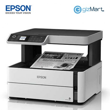 EPSON M2140 EcoTank Monochrome All-in-One Ink Tank Printer + FREE 40ml Black Ink Bottle