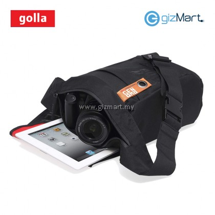 "Golla Don G1265 Sling Bag for Camera and 10.1"" Tablet (Black)"