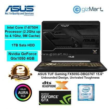 "ASUS TUF Gaming FX505G-DBQ376T 15.6"" Gaming Laptop-Gold Steel (i7-8750H, 8GB, 1TB, Gtx1050, Win10)"