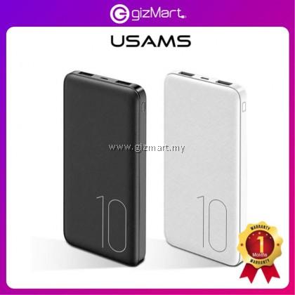 USAMS CD63 PB7 10000MAH Dual USB Ultra-thin Powerbank External Battery for Samsung Huawei Oppo Vivo Xiaomi iPhone Smartphone / Tablet