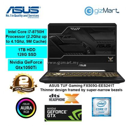"""ASUS TUF Gaming FX705G-EEV163T 17.3"""" Gaming Laptop-Black Gold (i7-8750H, 8GB, 1TB+128GB, Gtx1050Ti, Win10)"""
