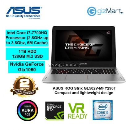 "ASUS ROG Strix GL502V-MFY290T 15.6"" Gaming Laptop-Titanium Gold (i7-7700HQ, 8GB, 1TB+128GB, Win10)"