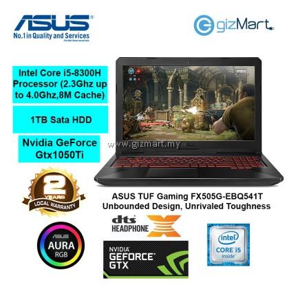 """ASUS TUF Gaming FX505G-EBQ541T, 15.6"""" Gaming Laptop-Gun Metal (i5-8300H, 4GB, 1TB, Gtx1050Ti, Win10)"""