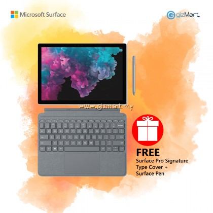 Microsoft Surface Pro 6 i5 / 256GB - 8GB RAM (Platinum) + Type Cover + Surface Pen