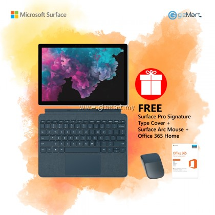 [NEW] Microsoft Surface Pro 6 i5 / 128GB - 8GB RAM (Platinum) + Type Cover + Surface Arc Mouse + Office 365 Home