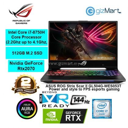 "ASUS ROG Strix Scar II GL504G-WES053T, 15.6"" Gaming Laptop-Gun Metal (i7-8750H, 16GB, 512GB, Rtx2070, Win10)"