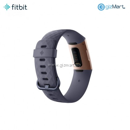 Fitbit Charge 3 Advanced Fitness Tracker (Rose Gold/Blue Grey)