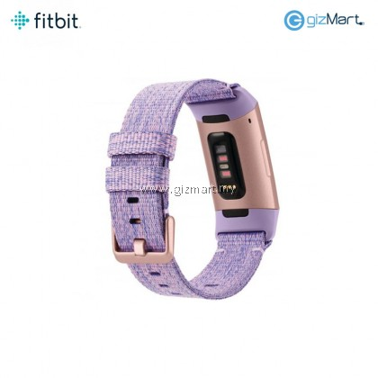 Fitbit Charge 3 Advanced Fitness Tracker Special Edition (Lavender Woven)