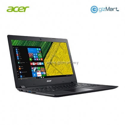 "Acer Aspire 3 A314-31-C6VG Laptop - Black (N3350 2.40GHz,500GB,4GB,14"" HD,W10) + Bitdefender Internet Security"