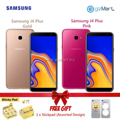 Samsung Galaxy J4 Plus 2GB RAM 32GB ROM - Gold / Pink + FREE Sticky Pad