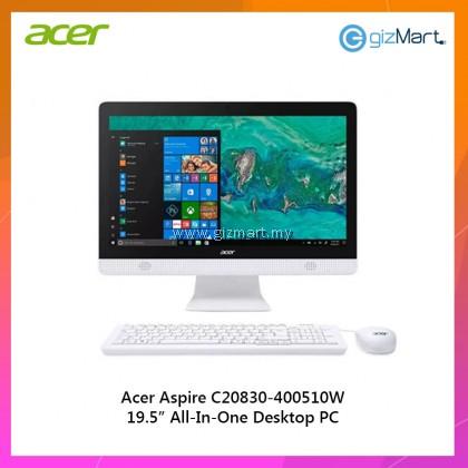 "Acer C20830-4005W10 19.5"" AIO Desktop PC (Celeron J4005, 4GB, 500GB, Intel, W10)"