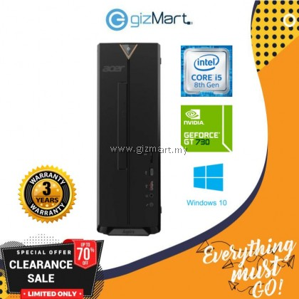 [DISPLAY UNIT, PM for condition] Acer Aspire AXC885-8400W10G Desktop PC (I5-8400, 4GB, 1TB, GT730 2GB, W10)