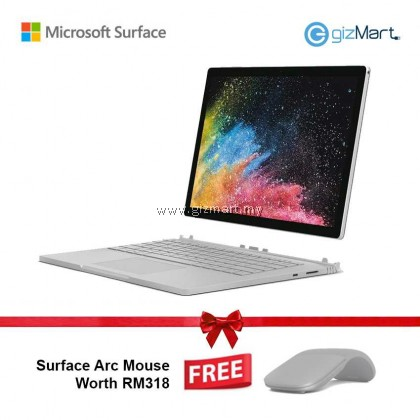 "Microsoft Surface Book 2 - 13.5"" Core i5 (8th Gen) / 8GB RAM / 256GB + Surface Arc Mouse"