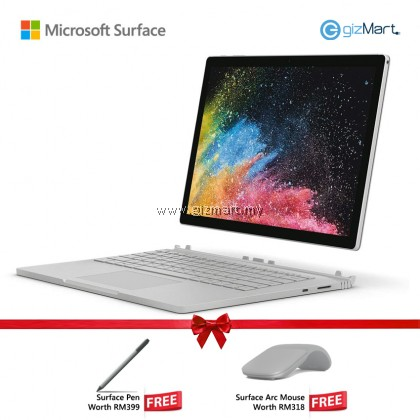 "Microsoft Surface Book 2 - 13.5"" Core i5 (8th Gen) / 8GB RAM / 256GB + Surface Arc Mouse + Surface Pen"
