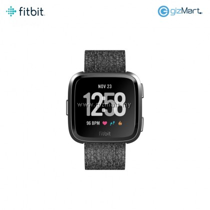 Fitbit Versa Smartwatch Special Edition (Charcoal Woven / Lavender Woven)
