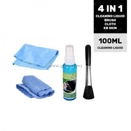 4 In 1 Laptop LCD Screen Cleaning Kit with Brush