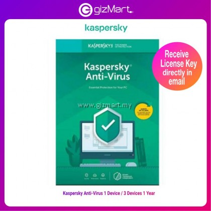 Kaspersky Anti-Virus 2021 (1 Device 1 Year / 3 Devices 1 Year) License Key Only