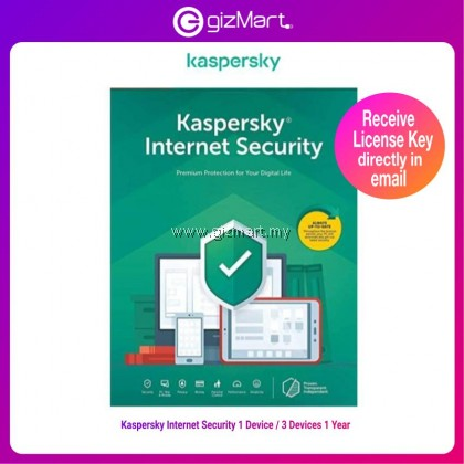 Kaspersky Internet Security 2021 (1 Device 1 Year / 3 Devices 1 Year) License Key Only