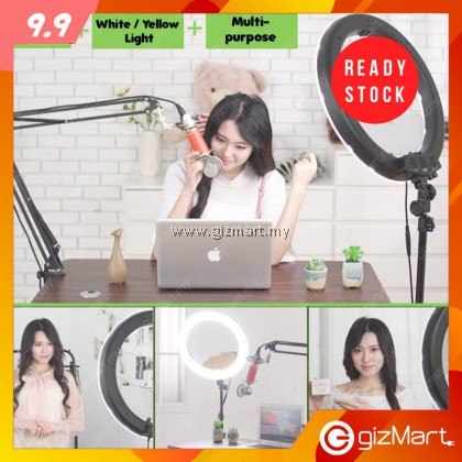 """14"""" LED Ring Light Adjustable Color Temperature with Tripod for Live Broadcast & Photography"""