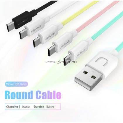 USAMS U-TURN Series SJ098 Micro USB Fast Data Sync Charger USB Cable - 1.0 Meter