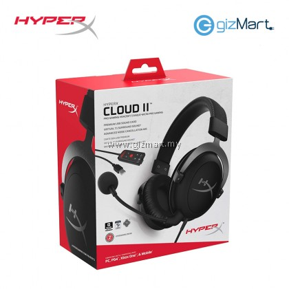 HYPERX Cloud II Pro Gaming Headset-Gun Metal/Red