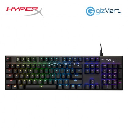 HYPERX Alloy FPS RGB Silver Speed Switch Gaming Keyboard