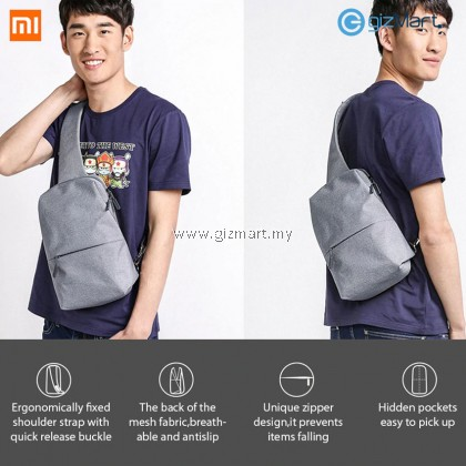 Original Xiaomi 4L Polyester Waterproof Urban Chest Bag Leisure Sling Bag