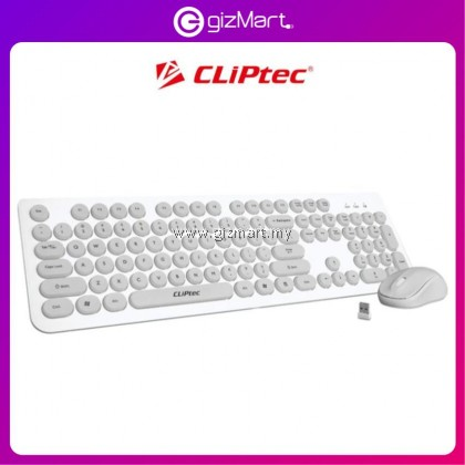 CLIPTEC RZK340 Young Air Wireless keyboard and Mouse Combo Set-Grey/Green/Pink