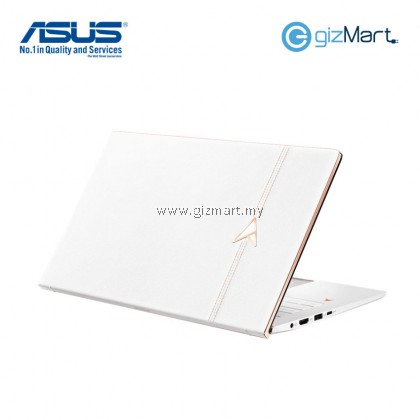 """[ SPECIAL EDITION ] ASUS Zenbook Edition 30 UX334F-LA4053T 13.3"""" Laptop-White+Leather (i5-8265U, 8GB, 512GB, Mx250, Win10)"""