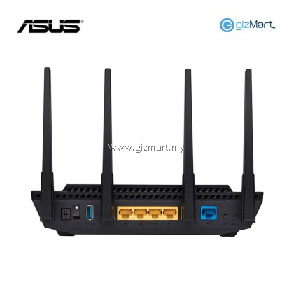 ASUS AX3000 Dual Band WiFi 6 (802.11ax) Router supporting MU-MIMO and OFDMA technology, with AiProtection Pro network security powered by Trend Micro™, compatible with ASUS AiMesh WiFi system