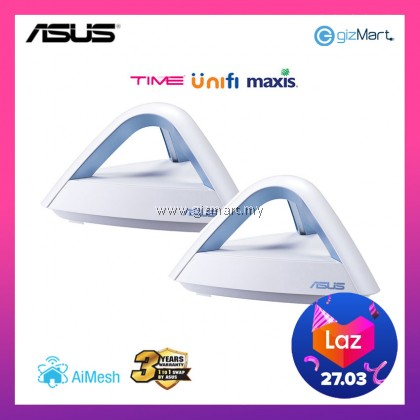 ASUS LYRA TRIO AC1750 AiMesh Dual Band Mesh WiFi System Router Access Point (2 PACK)