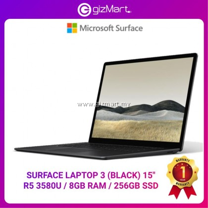 "Microsoft Surface Laptop 3 15"" Ryzen 5 8GB / 256GB - Black"