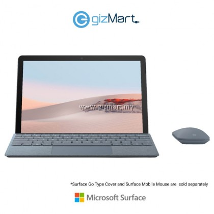 Microsoft Surface Go 2 (Intel Pentium Gold, 4GB, 64GB, Win10 S Mode, Platinum) + Type Cover