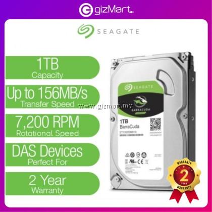 Seagate 1TB BarraCuda 3.5 SATA 64MB 7200RPM Internal Hard Disk / Hard Drive ( ST1000DM010 )