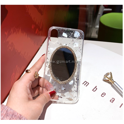 APPLE iPhone 11 Pro Max Korean Pearl Mobile Phone Tpu Fairy Case with Makeup Mirror