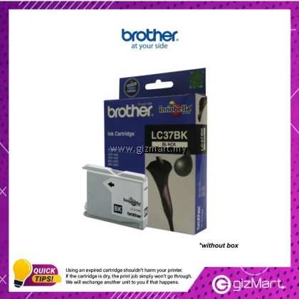 (New Sealed Expired) Brother Ink Cartridge LC37BK Black