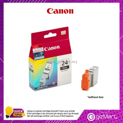 (New Sealed Expired) Canon Ink Cartridge BCI-24 Black Ink Tank