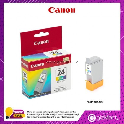 (New Sealed Expired) Canon Ink Cartridge BCI-24 Color Ink Tank