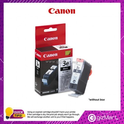 (New Sealed Expired) Canon Ink Cartridge BCI-3eBK Black Ink Tank