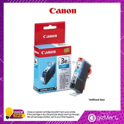 (New Sealed Expired) Canon Ink Cartridge BCI-3eC Cyan Ink Tank